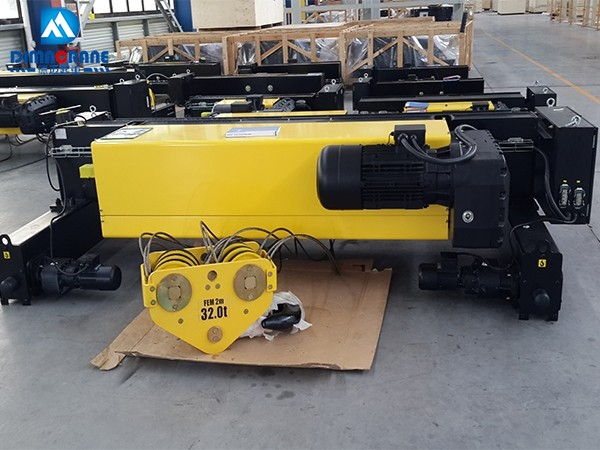 32 ton 10 ton Europe style double girder electric hoist trolley