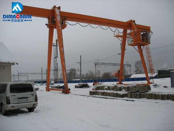 Europe style single beam gantry crane with collapsible legs