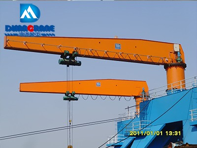 10 ton pillar mounted slewing jib cranes