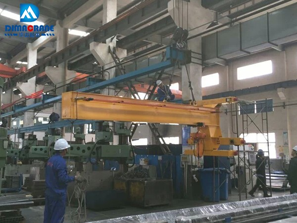 1 ton wall traveling slewing jib cranes