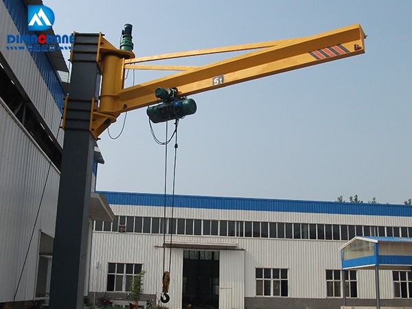 5 ton wall mounted slewing jib cranes