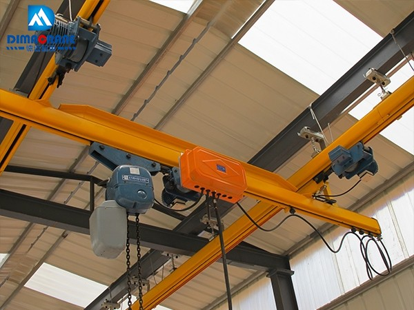 1000kg KBK single beam overhead cranes