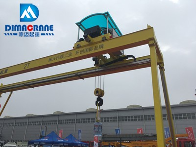 Europe style Intelligent Smart MG 2 ton double girder mobile gantry crane with Smart Anti-swing device