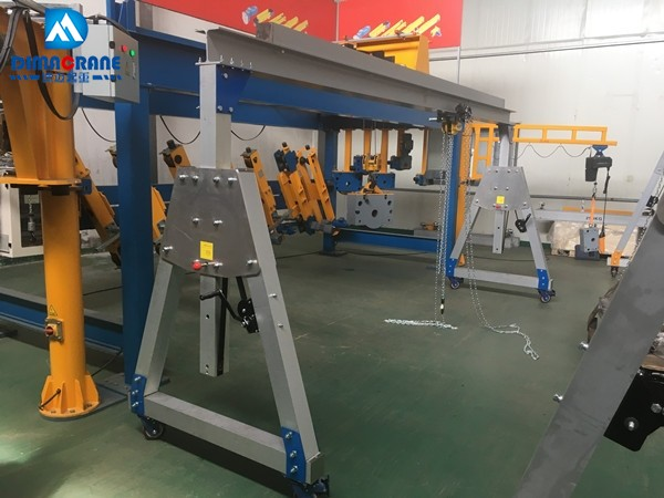 Customized 1 ton 5m Aluminium alloy portable moving gantry cranes for various industries