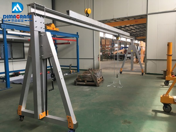 2019 The latest design aluminum alloy gantry crane with largest span 8m 1000 kg