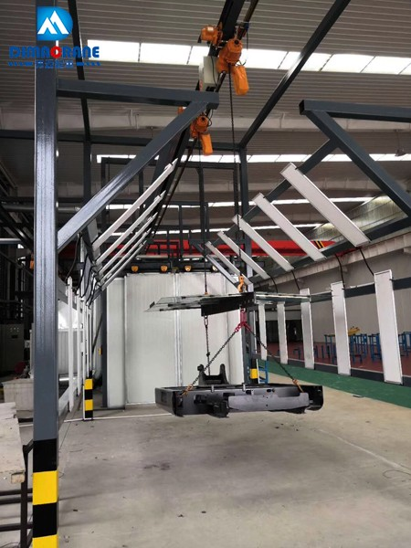 2.5 ton monorail smart overhead with chain hoist and electric rail switch