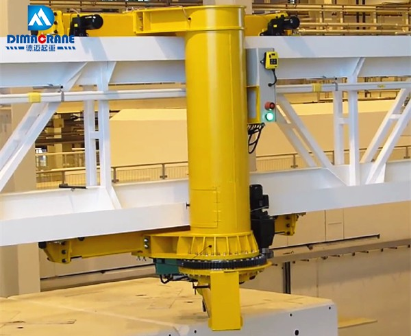 5 ton Wall travelling rotating jib crane with 360 degree slewing beam