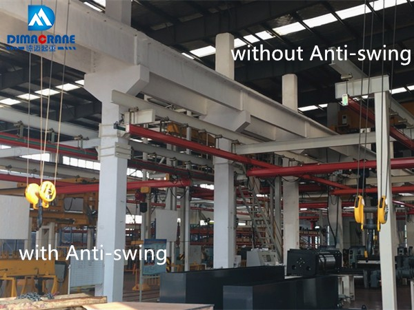 Overhead crane with smart Anti-swing