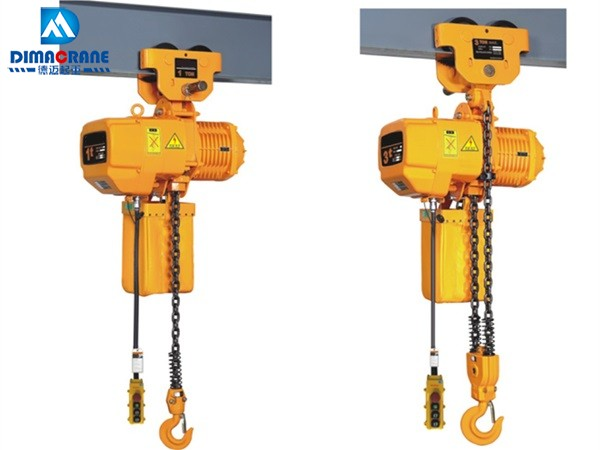 Euro-style electric chain hoist