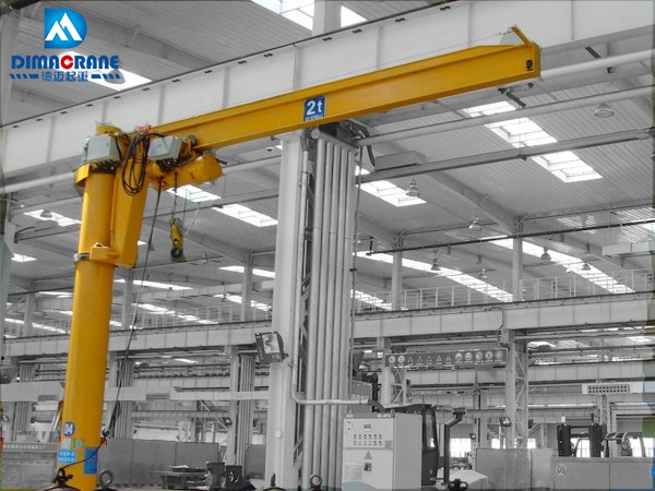 2 ton column mounted slewing jib cranes