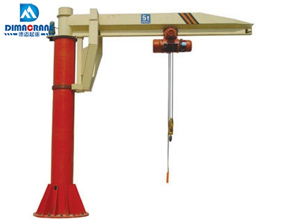 5 ton column mounted slewing jib cranes