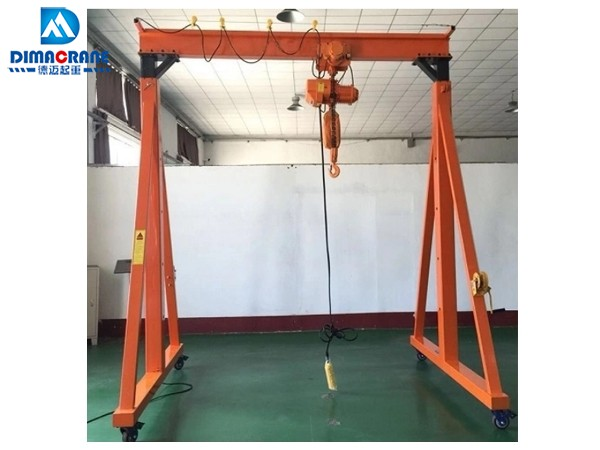 1 ton height adjustable portable gantry crane