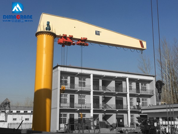 16 ton column mounted slewing jib cranes