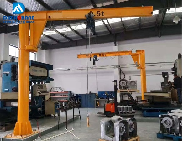 1 ton Euro-style Pillar Mounted Slewing Jib Cranes