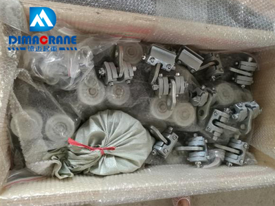 Careful packing for KBK ergo crane components system