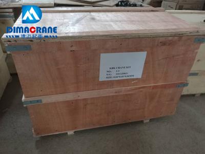 Careful packing for KBK ergo overhead crane components system
