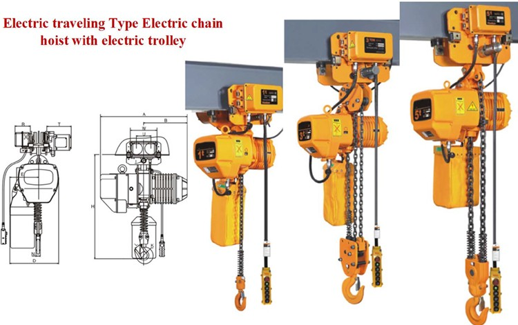 Kito style electric chain hoist