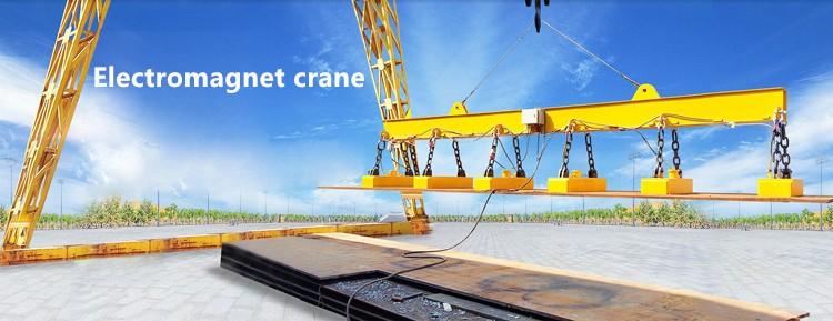 Electromagnet overhead crane