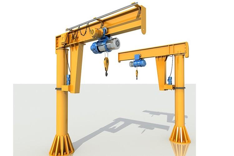 5 ton column mounted slewing jib cranes
