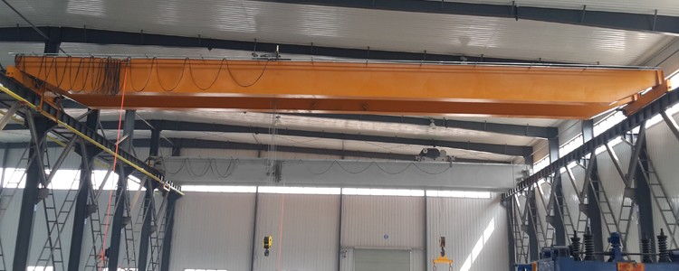 25 ton 30 m europe style double girder beam overhead bridge EOT crane