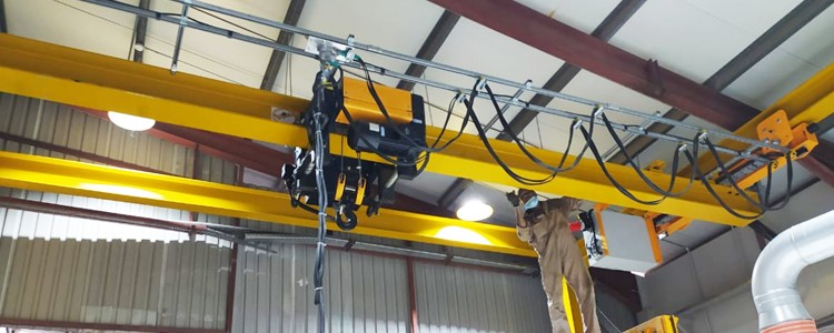 Europe style 5t-6m Wire rope Electric hoist  In Syria