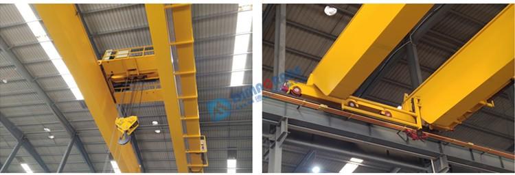 QD model 80 / 20 ton europe style 75 ton double beam girder electric overhead traveling crane in workshop price