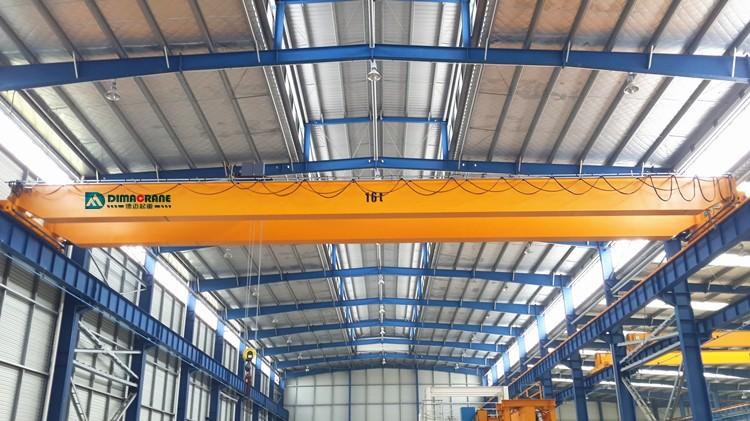 16 ton Europe style double girder overhead cranes