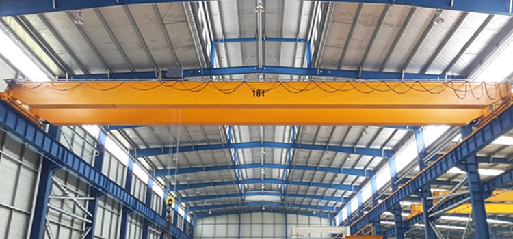 16 ton 20 m europe style double girder beam overhead bridge EOT crane