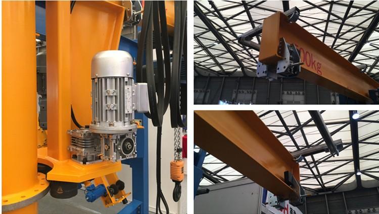 3 ton column mounted slewing jib cranes