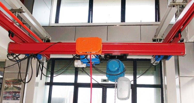 KBK Single Girder Electric travelling Suspension Overhead Crane with