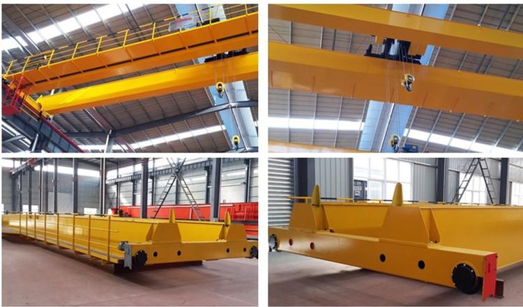 20 / 10 ton 10 m europe style double girder beam overhead EOT Bridge Crane
