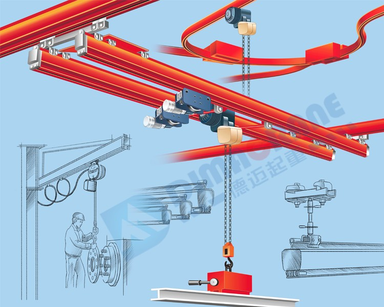 2 ton KBK Double Girder suspension Overhead Crane