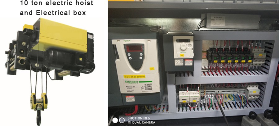 10 ton electric hoist and Electrical box